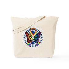 LGBTQIA-Butterfly-Tribal-blk Tote Bag