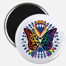 LGBTQIA-Butterfly-Tribal-blk Magnet