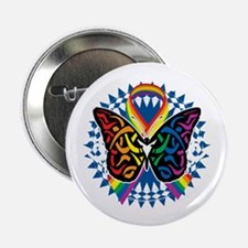 "LGBTQIA-Butterfly-Tribal-blk 2.25"" Button"