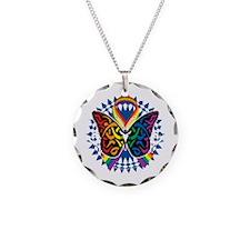 LGBTQIA-Butterfly-Tribal-blk Necklace