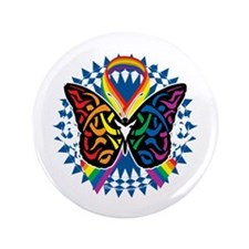 "LGBTQIA-Butterfly-Tribal-blk 3.5"" Button"