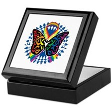 LGBTQIA-Butterfly-Tribal-blk Keepsake Box