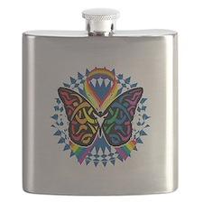LGBTQIA-Butterfly-Tribal-blk Flask