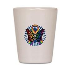 LGBTQIA-Butterfly-Tribal-blk Shot Glass