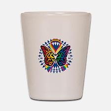 LGBTQIA-Butterfly-Tribal-blk Shot Glass