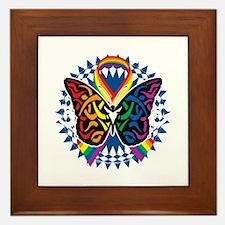 LGBTQIA-Butterfly-Tribal-blk Framed Tile