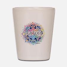 LGBTQIA-Lotus-blk Shot Glass