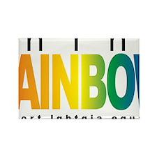 LGBTQIA-THINK-Rainbow Rectangle Magnet
