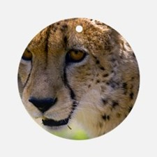 (4) Cheetah 9120 Round Ornament