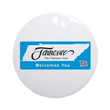 Welcome to Tennessee - USA Ornament (Round)