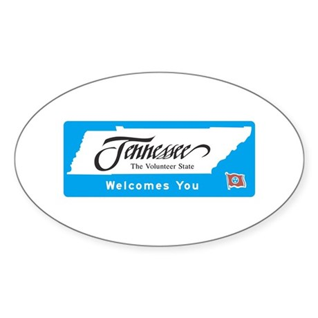 Welcome to Tennessee - USA Oval Sticker