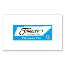 Welcome to Tennessee - USA Rectangle Decal