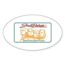 Welcome to South Dakota - USA Oval Decal