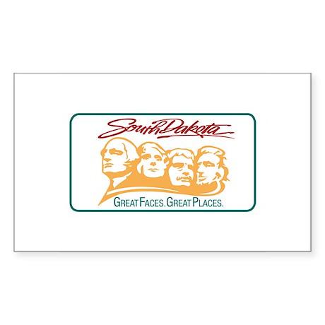 Welcome to South Dakota - USA Sticker (Rectangular