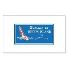 Welcome to Rhode Island - USA Sticker (Rectangular