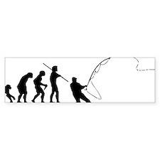fishing evolution Bumper Bumper Sticker