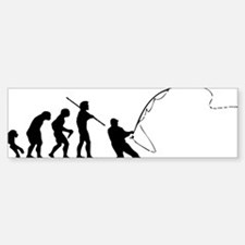 fishing evolution Bumper Bumper Sticker