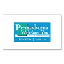 Welcome to Pennsylvania - USA Sticker (Rectangular