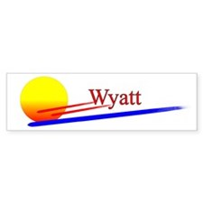 Wyatt Bumper Bumper Sticker