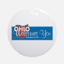 Welcome to Ohio - USA Ornament (Round)