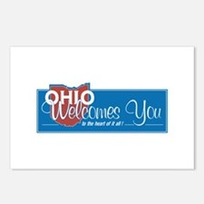 Welcome to Ohio - USA Postcards (Package of 8)
