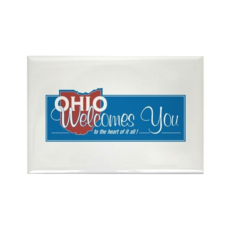 Welcome to Ohio - USA Rectangle Magnet (100 pack)