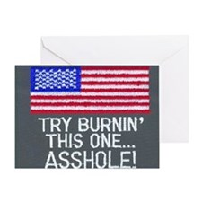 burn this one Greeting Card