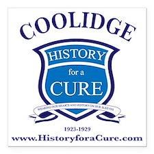 """calvin COOLIDGE 30 TRUMA Square Car Magnet 3"""" x 3"""""""