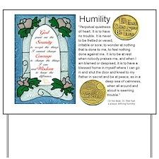 HUMILITY Yard Sign