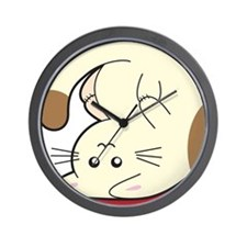 Upsidedown-cat Wall Clock
