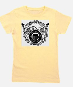 USCGAux-Eagle-Black Girl's Tee