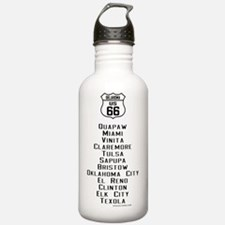 US Route 66 - Oklahoma Water Bottle