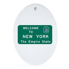 Welcome to New York - USA Oval Ornament