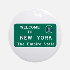 Welcome to New York - USA Ornament (Round)