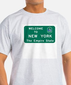 Welcome to New York - USA Ash Grey T-Shirt