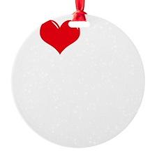I-Love-My-Bloodhound-dark Ornament