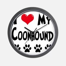 I-Love-My-Coonhound Wall Clock