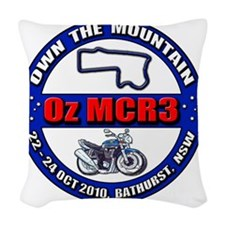 OzMCR3_WH Woven Throw Pillow