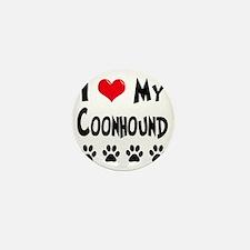 I-Love-My-Coonhound Mini Button