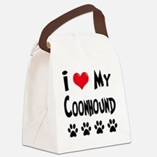 I-Love-My-Coonhound Canvas Lunch Bag