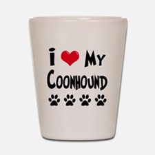 I-Love-My-Coonhound Shot Glass