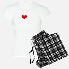 I-Love-My-Coonhound-dark Pajamas