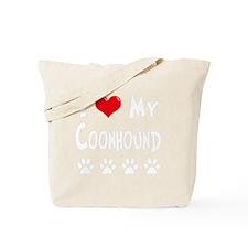 I-Love-My-Coonhound-dark Tote Bag
