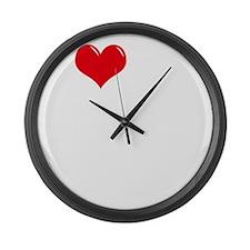 I-Love-My-Papillon-dark Large Wall Clock