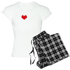 I-Love-My-Papillon-dark Pajamas