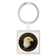 Conservative Patriot 2 Square Keychain
