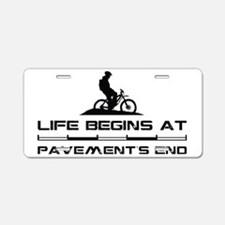 MountainBiker.eps Aluminum License Plate