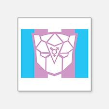 "Transgender-transformers-BL Square Sticker 3"" x 3"""
