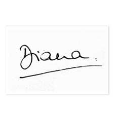 Princess Diana Signature Postcards (Package of 8)