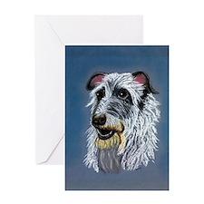 Scottish Deerhound Dog Greeting Cards